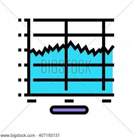 Graphic Sound Vibration Color Icon Vector. Graphic Sound Vibration Sign. Isolated Symbol Illustratio