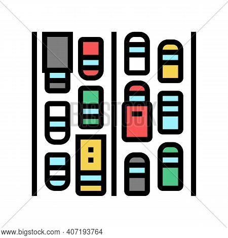 Traffic Jam Color Icon Vector. Traffic Jam Sign. Isolated Symbol Illustration