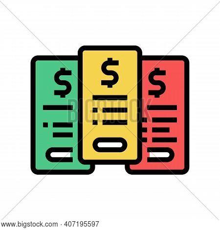 Tariff Plans Subscription Color Icon Vector. Tariff Plans Subscription Sign. Isolated Symbol Illustr