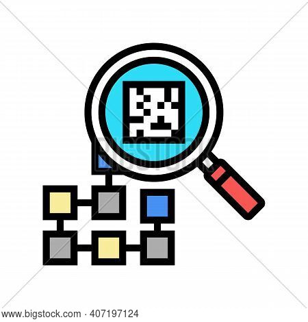 Research Neural Network Color Icon Vector. Research Neural Network Sign. Isolated Symbol Illustratio