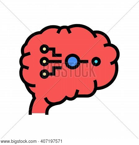 Biological Neural Network Color Icon Vector. Biological Neural Network Sign. Isolated Symbol Illustr