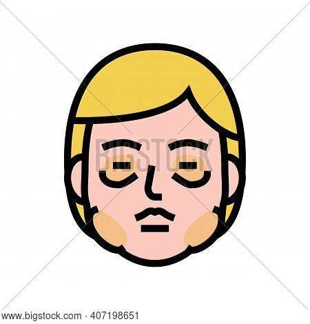Allergic Edema Color Icon Vector. Allergic Edema Sign. Isolated Symbol Illustration