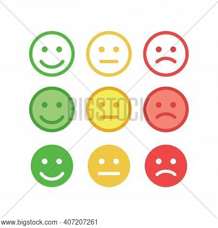 Smiley Face Happy Smile Angry Feedback Icon.eps