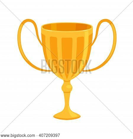 Gold Shiny Cup As A Reward For Winning Sports Competitions Or Competitions