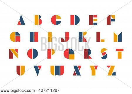 Bauhaus Letters And Numbers Set. Modern Typography. Font For Events, Promotions, Logos, Banner, Mono