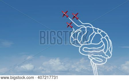 Brave Thinking And Fearless Mind Psychology Or Neurobiology Of Courage And Bravery Biology As A Brai