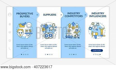 Collaborative Creation Participants Onboarding Vector Template. Prospective Buyers. Industry Competi