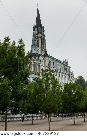 Basilica Of The Immaculate Conception Of The Blessed Virgin Mary In Lourdes And Basilica Of Our Lady