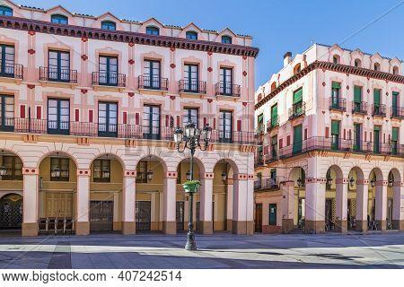 Luis Lopez Allue Square In Huesca City Center, Aragon, Spain