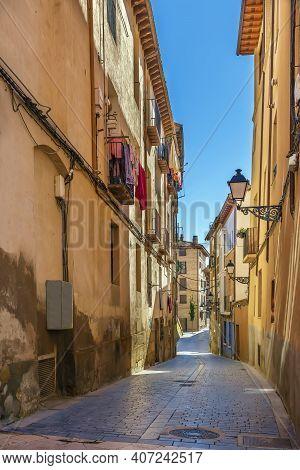 Street In Historical Center In Huesca, Spain