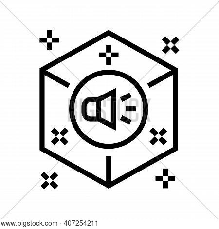 Surround Sound Line Icon Vector. Surround Sound Sign. Isolated Contour Symbol Black Illustration