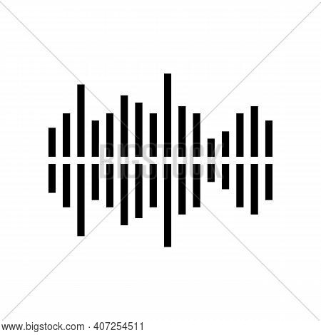 Frequency Noise Line Icon Vector. Frequency Noise Sign. Isolated Contour Symbol Black Illustration