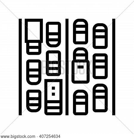 Traffic Jam Line Icon Vector. Traffic Jam Sign. Isolated Contour Symbol Black Illustration
