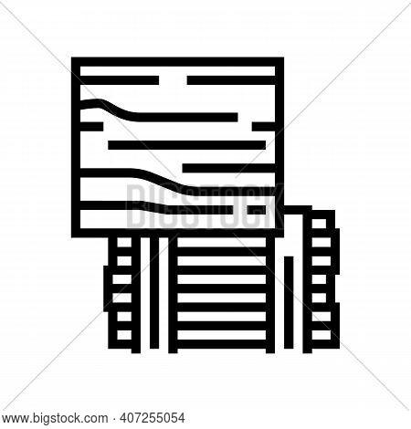 Osb Oriented Strand Board Line Icon Vector. Osb Oriented Strand Board Sign. Isolated Contour Symbol
