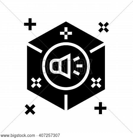Surround Sound Glyph Icon Vector. Surround Sound Sign. Isolated Contour Symbol Black Illustration