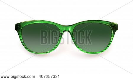 Sunglasses Isolated On White Background For Applying On A Portrait. Design Element With Clipping Pat