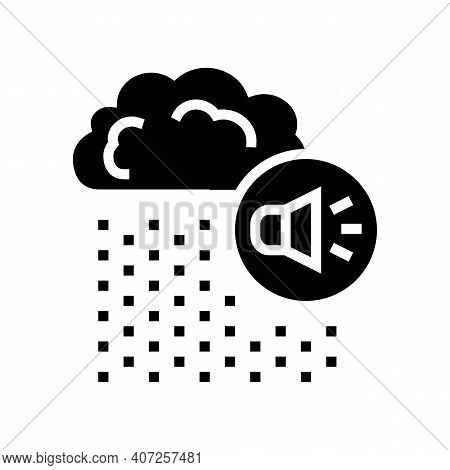 Rain Noise Glyph Icon Vector. Rain Noise Sign. Isolated Contour Symbol Black Illustration