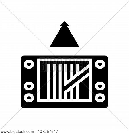 Gps Navigation Device Glyph Icon Vector. Gps Navigation Device Sign. Isolated Contour Symbol Black I