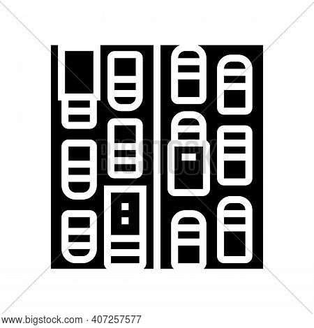 Traffic Jam Glyph Icon Vector. Traffic Jam Sign. Isolated Contour Symbol Black Illustration