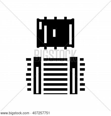 Timber Wooden Material For Building House Glyph Icon Vector. Timber Wooden Material For Building Hou