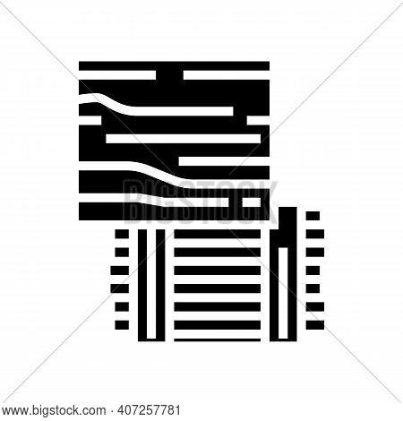 Osb Oriented Strand Board Glyph Icon Vector. Osb Oriented Strand Board Sign. Isolated Contour Symbol