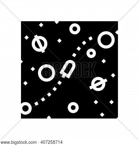 Cosmic Way Between Planets Glyph Icon Vector. Cosmic Way Between Planets Sign. Isolated Contour Symb