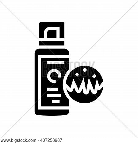 Spray For Animal Wool Glyph Icon Vector. Spray For Animal Wool Sign. Isolated Contour Symbol Black I