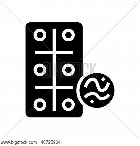 Pills For Treatment Pet Worms Glyph Icon Vector. Pills For Treatment Pet Worms Sign. Isolated Contou