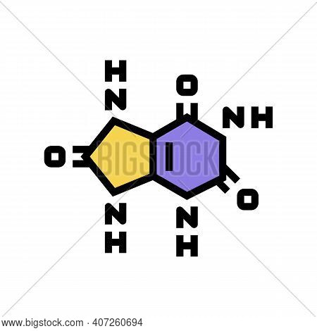 Uric Acid Cause Of Gout Color Icon Vector. Uric Acid Cause Of Gout Sign. Isolated Symbol Illustratio