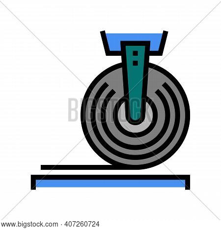 Roll With Cord Industrial Equipment Color Icon Vector. Roll With Cord Industrial Equipment Sign. Iso