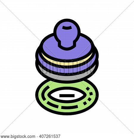 Stamp For Accept Allowance Color Icon Vector. Stamp For Accept Allowance Sign. Isolated Symbol Illus