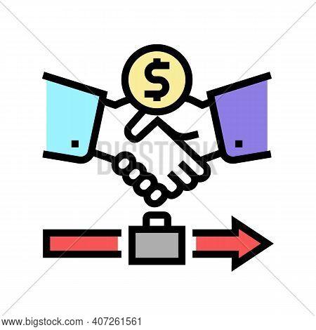 Severance Pay Allowance Color Icon Vector. Severance Pay Allowance Sign. Isolated Symbol Illustratio