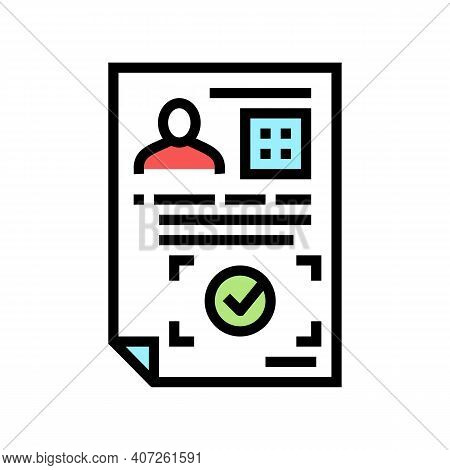 Approval Allowance Color Icon Vector. Approval Allowance Sign. Isolated Symbol Illustration
