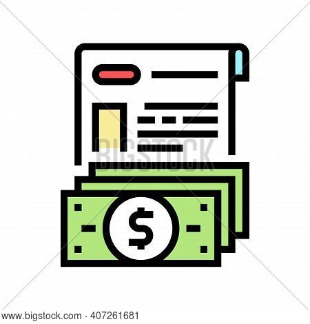 Issue Of Allowance Color Icon Vector. Issue Of Allowance Sign. Isolated Symbol Illustration
