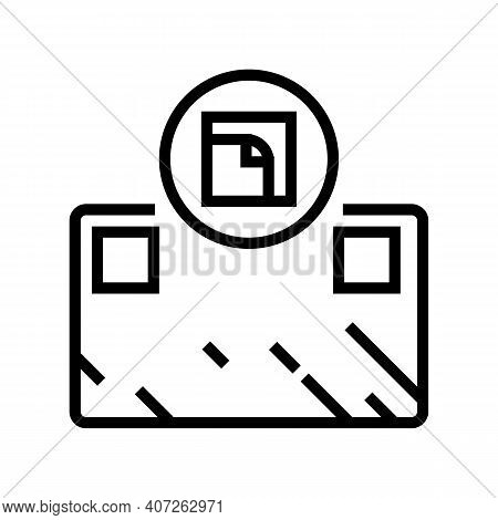 Glue Installation Mirror Line Icon Vector. Glue Installation Mirror Sign. Isolated Contour Symbol Bl