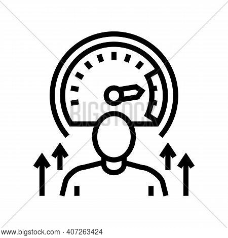 Growth Mindset Soft Skill Line Icon Vector. Growth Mindset Soft Skill Sign. Isolated Contour Symbol