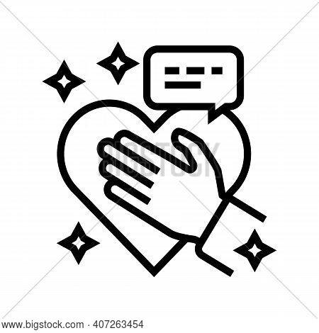 Honesty Soft Skill Line Icon Vector. Honesty Soft Skill Sign. Isolated Contour Symbol Black Illustra