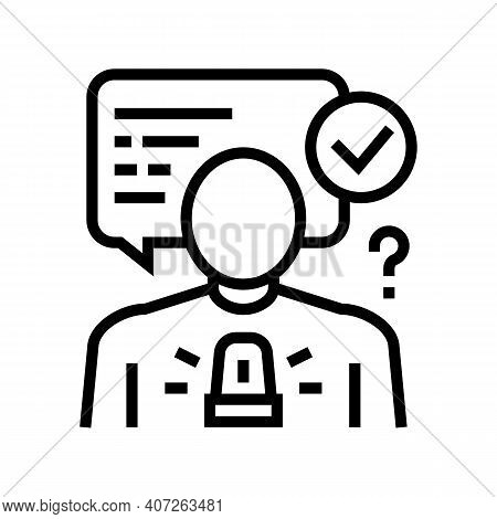 Decision Making Soft Skill Line Icon Vector. Decision Making Soft Skill Sign. Isolated Contour Symbo