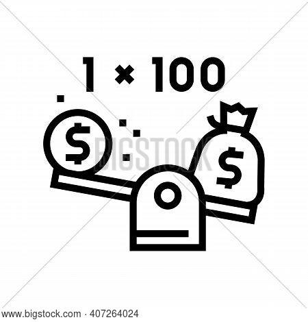 Leverage Help Line Icon Vector. Leverage Help Sign. Isolated Contour Symbol Black Illustration