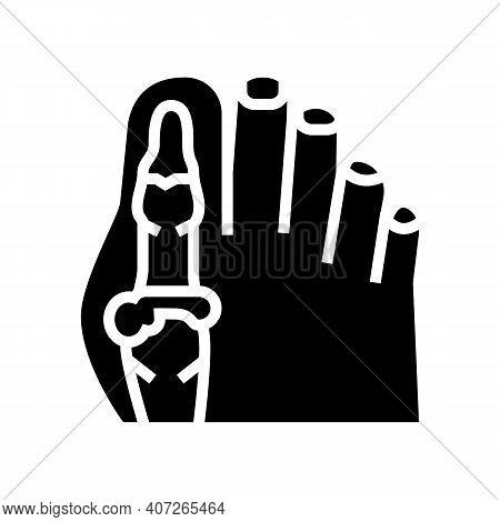 Foot Big Toe Bone Gout Glyph Icon Vector. Foot Big Toe Bone Gout Sign. Isolated Contour Symbol Black
