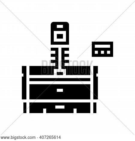 Honing Machine Glyph Icon Vector. Honing Machine Sign. Isolated Contour Symbol Black Illustration