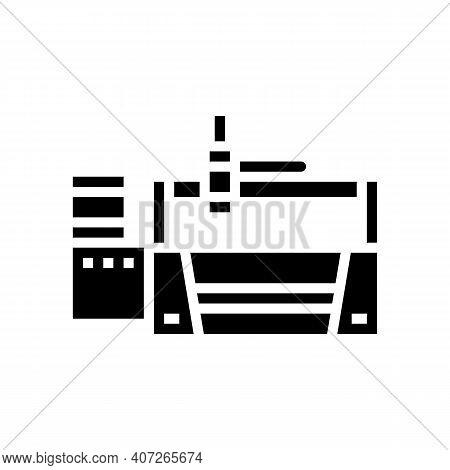 Laser Apparatus Glyph Icon Vector. Laser Apparatus Sign. Isolated Contour Symbol Black Illustration