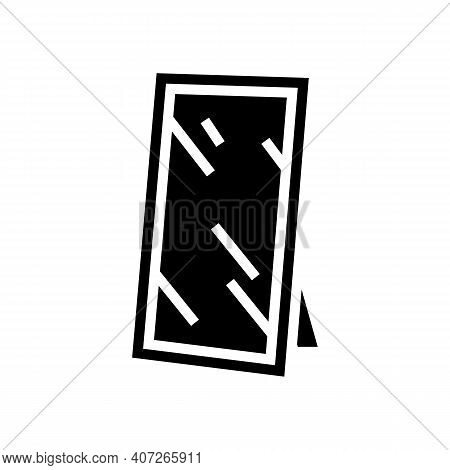 For Hallway Mirror Glyph Icon Vector. For Hallway Mirror Sign. Isolated Contour Symbol Black Illustr