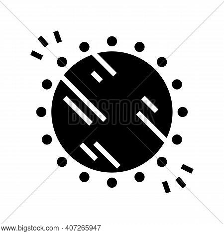 Illuminated Mirror With Lamps Glyph Icon Vector. Illuminated Mirror With Lamps Sign. Isolated Contou