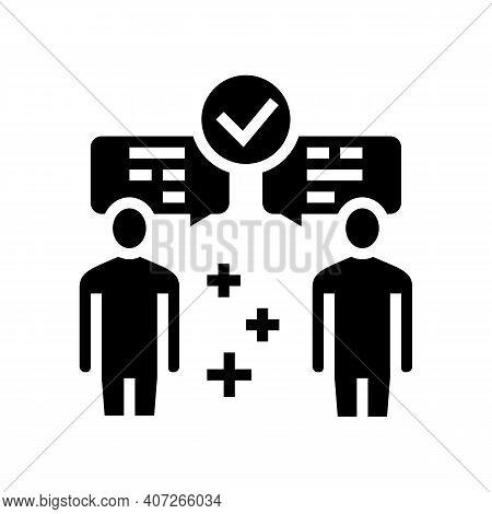 Inter-leaf Communication Soft Skill Glyph Icon Vector. Inter-leaf Communication Soft Skill Sign. Iso