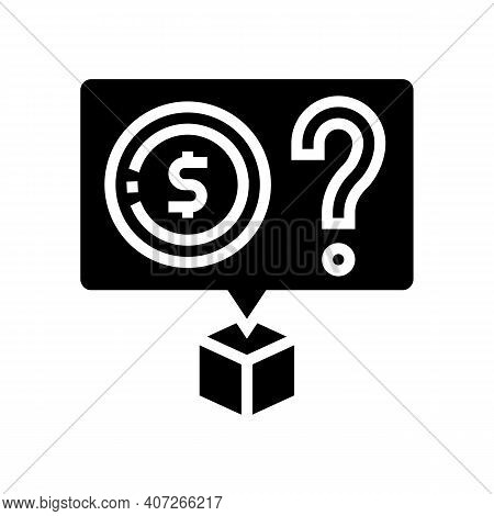 Cost Price Glyph Icon Vector. Cost Price Sign. Isolated Contour Symbol Black Illustration