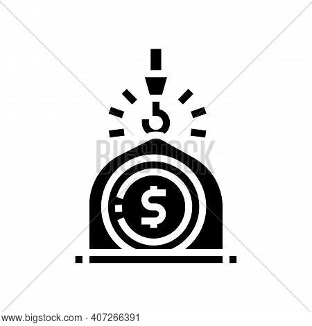 Weight Of Money Wealth Glyph Icon Vector. Weight Of Money Wealth Sign. Isolated Contour Symbol Black