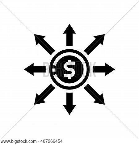 Consumption Money Glyph Icon Vector. Consumption Money Sign. Isolated Contour Symbol Black Illustrat