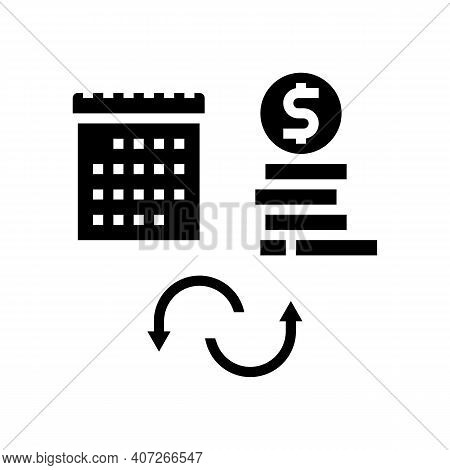 Social Security Benefit Allowance Glyph Icon Vector. Social Security Benefit Allowance Sign. Isolate