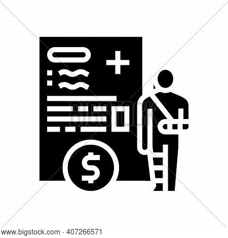 Injuries Allowance Glyph Icon Vector. Injuries Allowance Sign. Isolated Contour Symbol Black Illustr